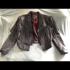 Jackets & Blazers - Vintage fringe leather jacket